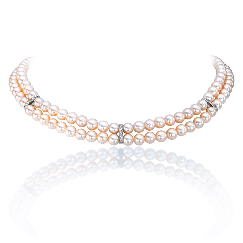 e1774150cd8316 Double row Akoya pearl necklace - Hartmanns of Galway