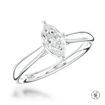 marquise cut platinum solitaire plain band engagement ring
